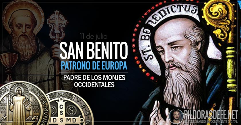 san benito patrono de europa padre de los monjes occidentales