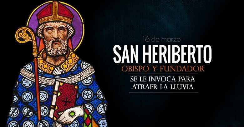 san heriberto obispo fundador invocado para atraer la lluvia