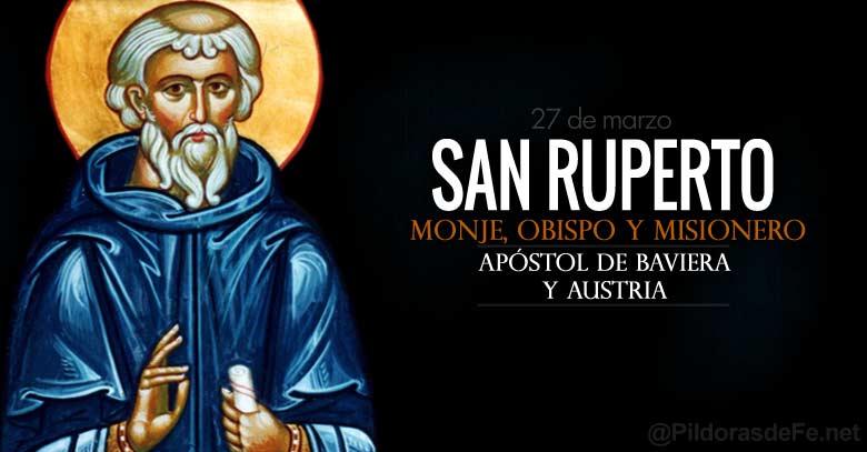 san ruperto monje obispo misionero