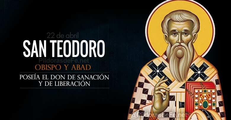 san teodoro de anastasiopolis obispo abad con el don de sanacion y liberacion