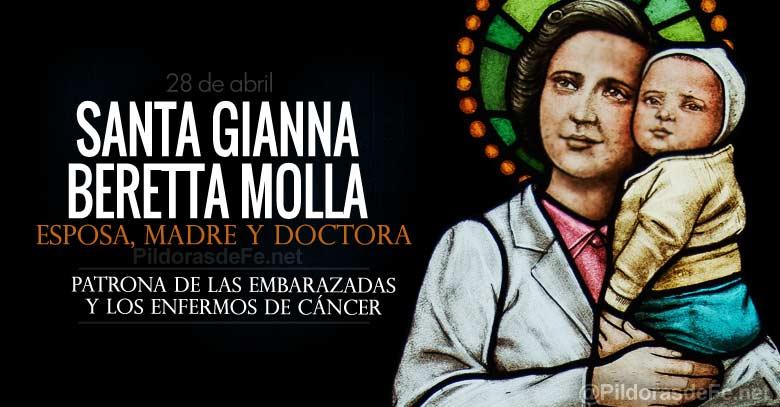 santa gianna beretta molla esposa madre doctora patrona de las embarazadas y enfermos de cancer