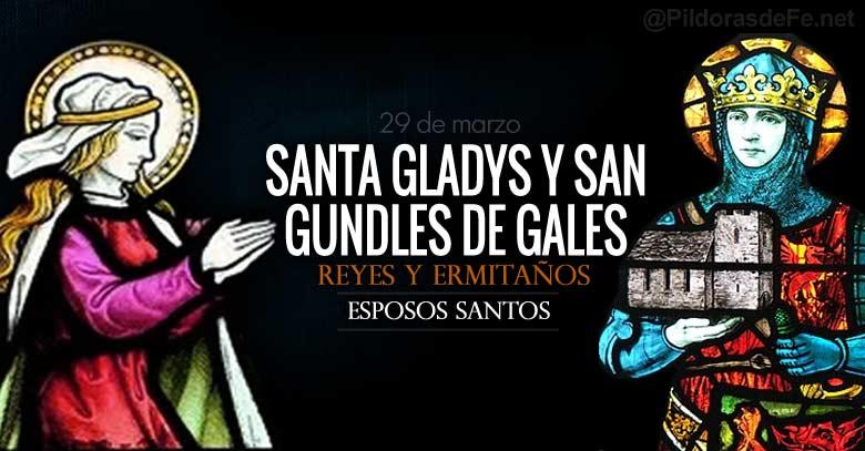 santa gladys y san gundles de gales esposos santos reyes de gales