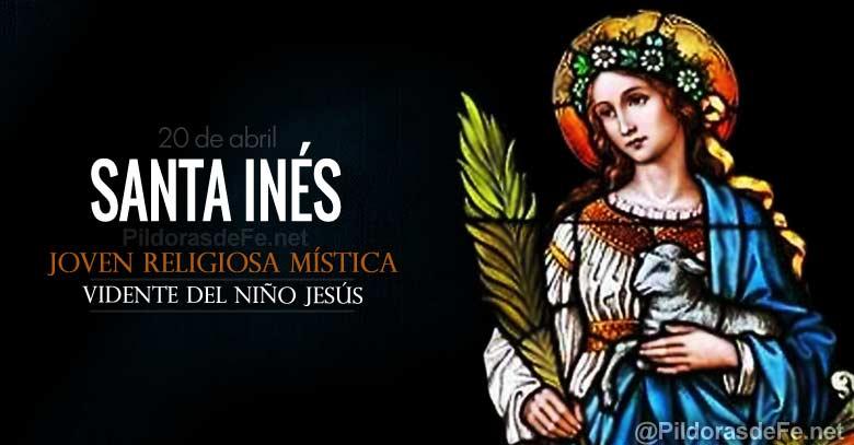 santa ines de montepulciano religiosa mistica vidente del nino jesus