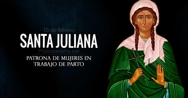 santa juliana patrona de mujeres en trabajo de parto y contra enfermedades
