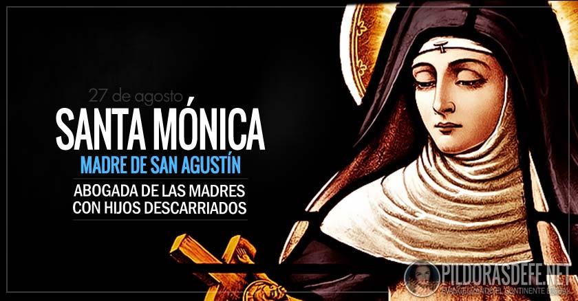 Santa Mónica Patrona De Las Mujeres Casadas Modelo De