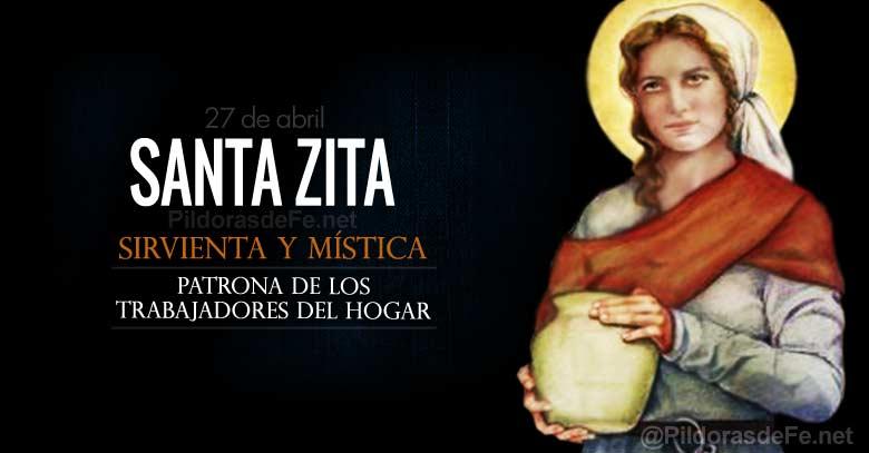 santa zita sirvienta mistica patrona de los trabajadores del hogar