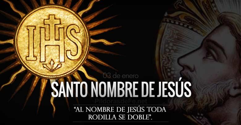 santo nombre de jesus fiesta toda rodilla se doble