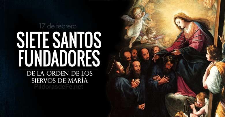 siete santos fundadores de la orden de los siervos de maria