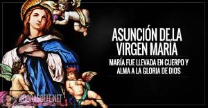 Asunción de la Virgen María. Nuestra Señora es llevada al Cielo