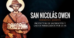san nicolas owen hermano jesuita protector de los sacerdotes