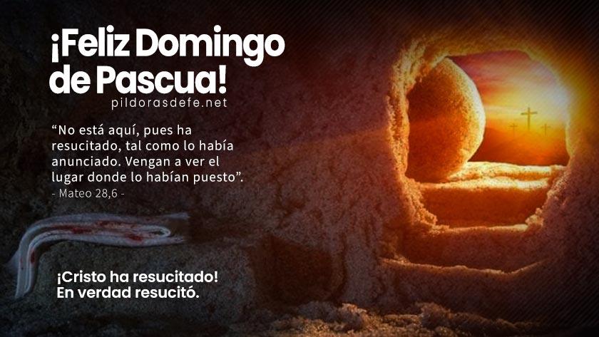 feliz domingo de pascua cristo ha resucitado en verdad resucito