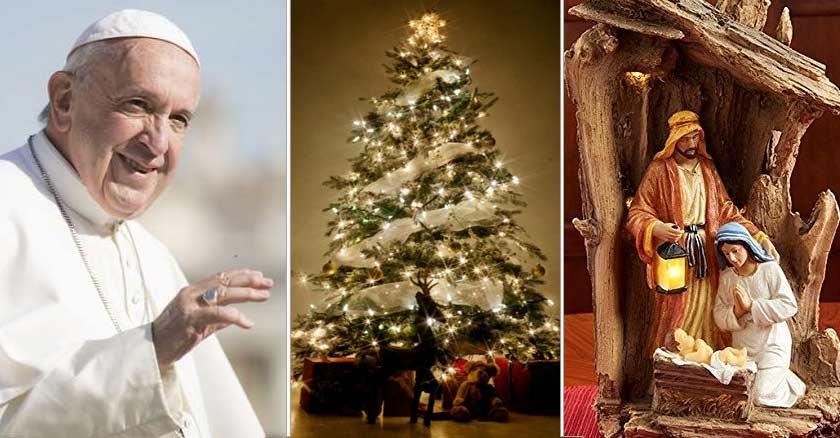Papa Francisco árbol De Navidad Y Pesebre Son Símbolos De
