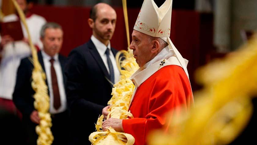 papa francisco celebraciones semana santa pascua  coronavirus covid