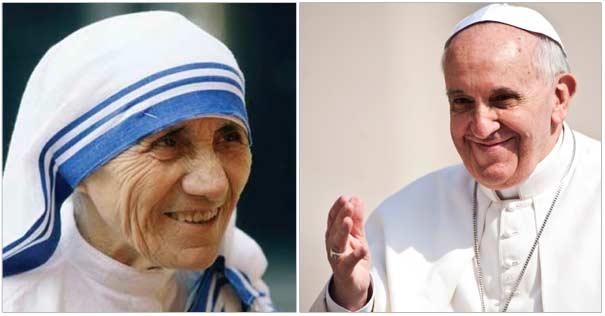 papa francisco madre teresa de calcuta modelo oracion