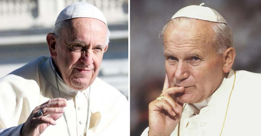 papa francisco mano arriba san juan pablo ii mano rostro pensando