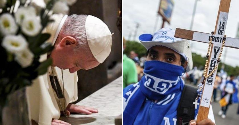 papa francisco orando por nicaragua protestas daniel ortega
