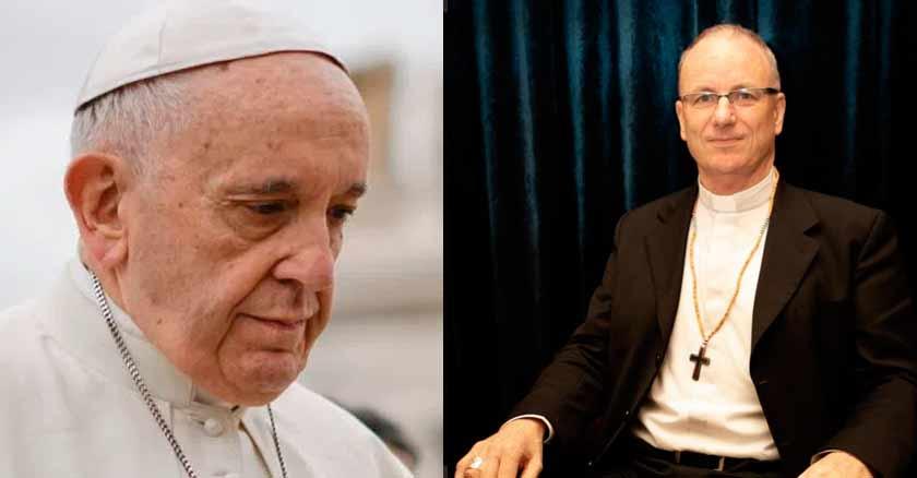 papa francisco rostro triste acepta renuncia de obispo investigadopor abuso sexual