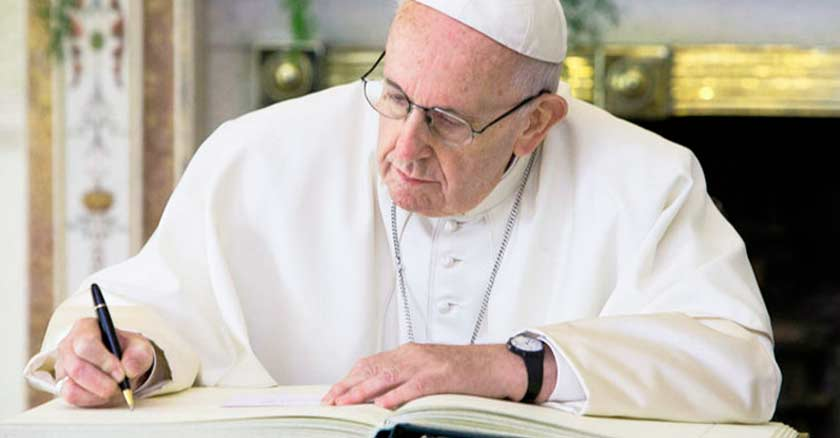 pope francis sign assisi encyclical letter