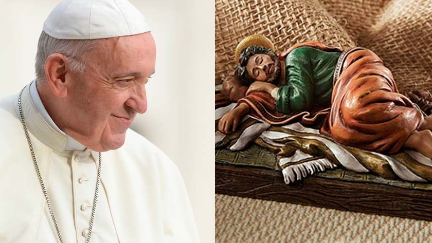 pope francis sleeping saint joseph