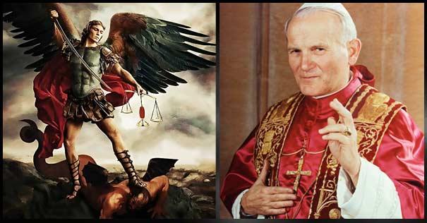 san juan pablo ii oracion san miguel arcangel