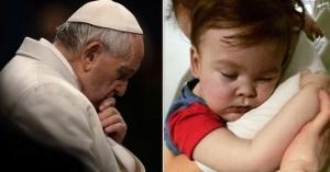 papa francisco conmovido por muerte de alfie evans