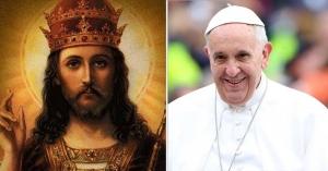 papa francisco sonrie rostro jesucristo rey