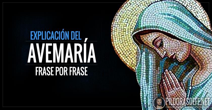 virgen maria mosaico rezando manos juntas avemaria