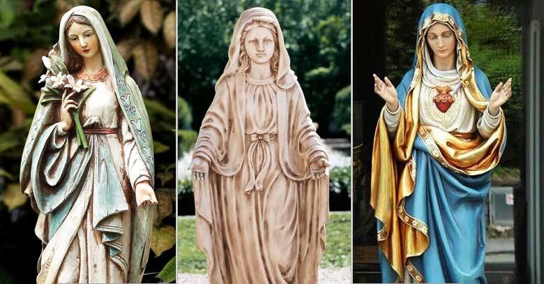 estatuas de la virgen maria