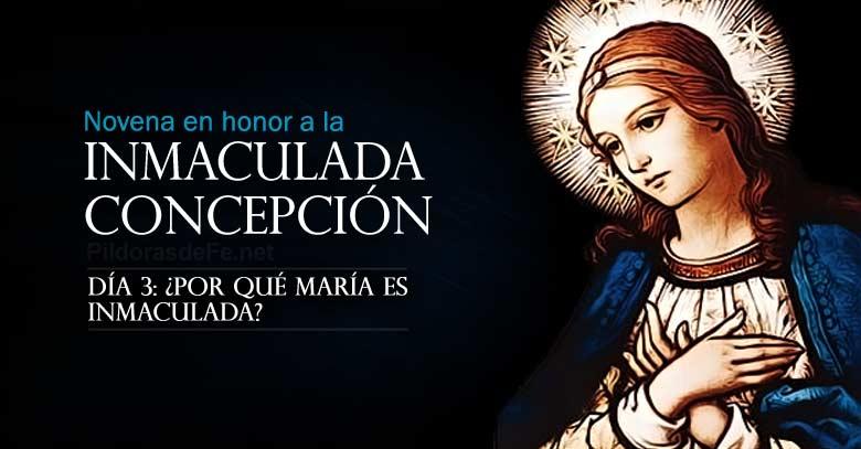 novena a la inmaculada concepcion de maria dia  por que es inmaculada
