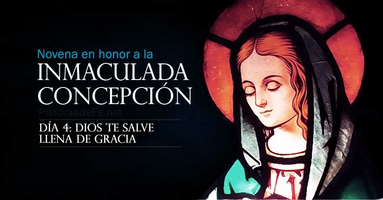 novena a la inmaculada concepcion de maria dia  dios te salve llena de gracia