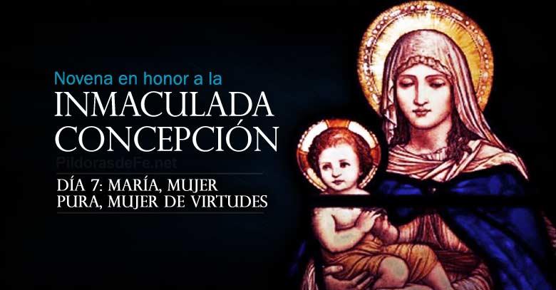 novena a la inmaculada concepcion de maria dia  mujer pura y de virtudes