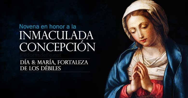 novena a la inmaculada concepcion de maria dia  fortaleza de los debiles