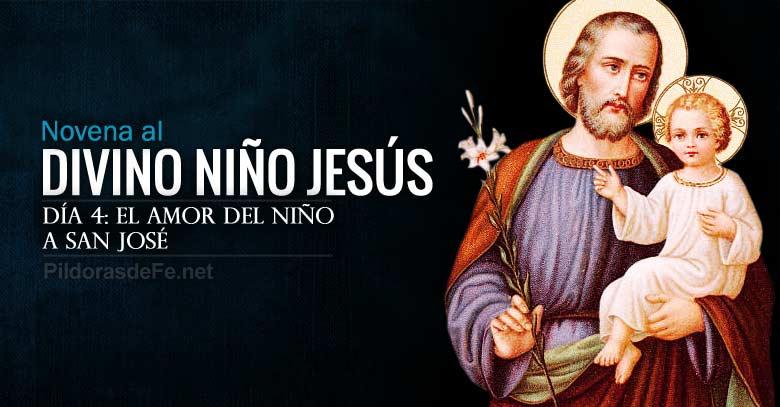 novena al divino nino jesus dia  el amor del nino dios a san jose