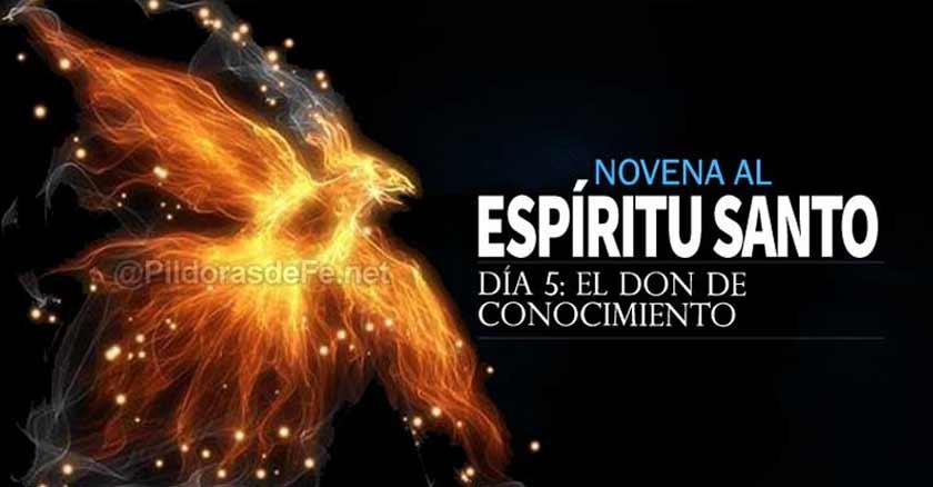 novena al espiritu santo dia  el don de conocimiento