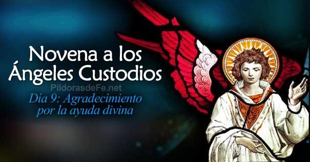 novena angeles custodios dia  agradecimiento ayuda divina