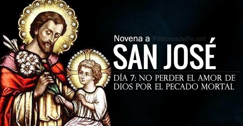 san jose novena dia  no perder el amor de dios por el pecado mortal