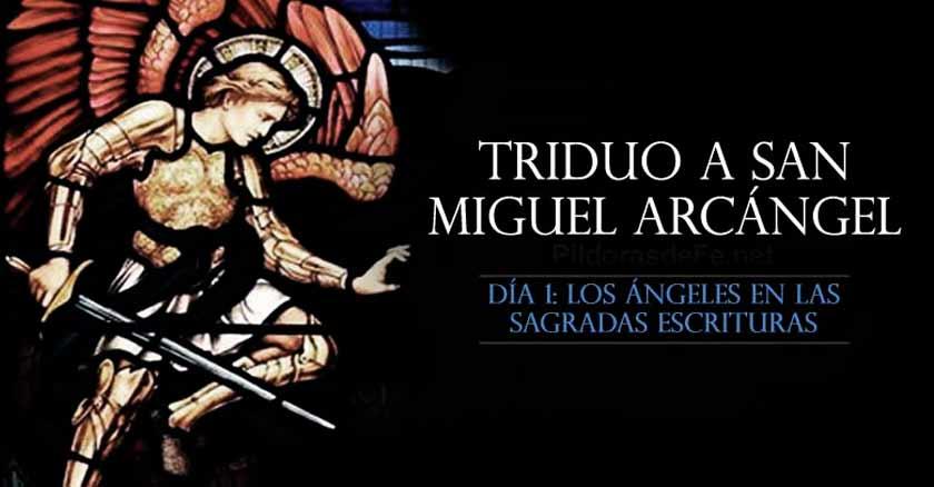 san miguel arcangel triduo a san miguel arcangel oracion dia  angeles sagrada escritura