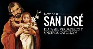 san jose novena dia  verdaderos y sinceros catolicos