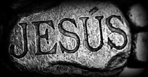 santo nombre de jesus grabado en piedra