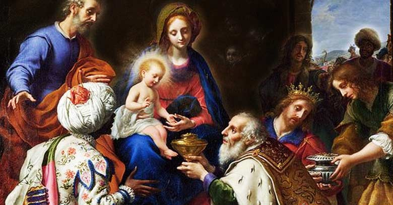 epifania del senor reyes magos adoran al nino jesus