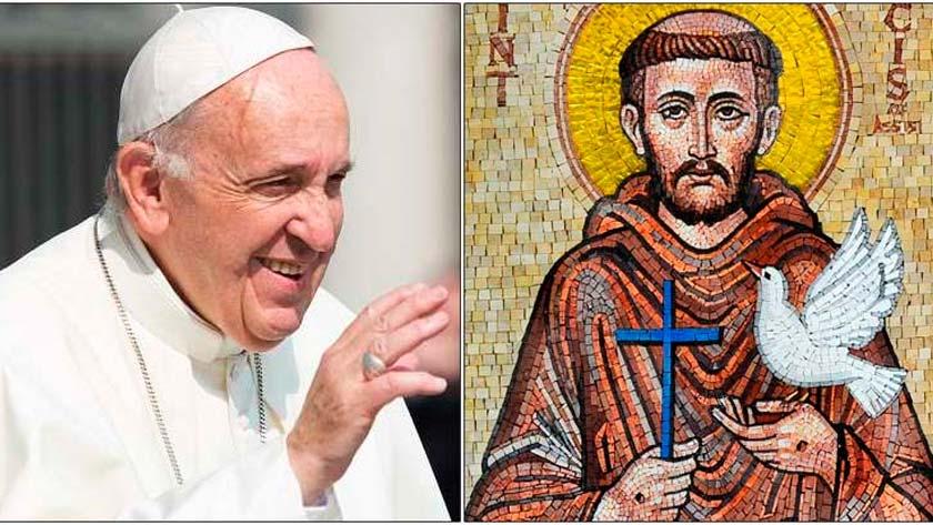 papa francisco san francisco de asis