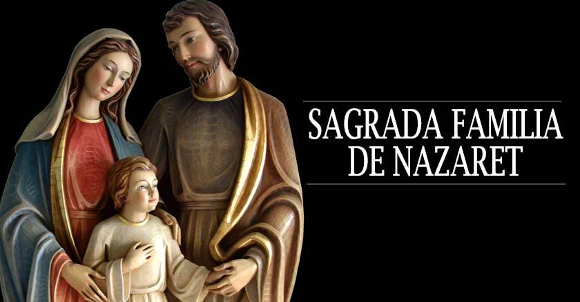 sagrada familia de nazaret san jose maria nino jesus fondo negro unidos