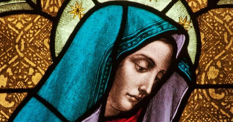 santisima virgen maria dibujo mural