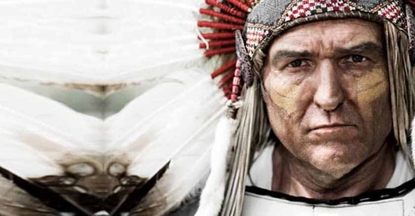 squanto heore indio del dia de la accion de gracias rostro