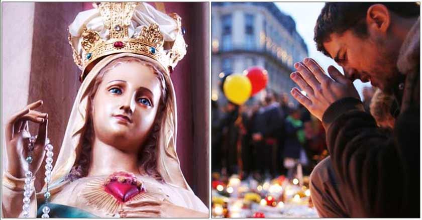 virgen maria reina de la paz vencer al terrorismo oracion contra actos terroristas