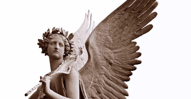angel custodio angel de la guarda estatua